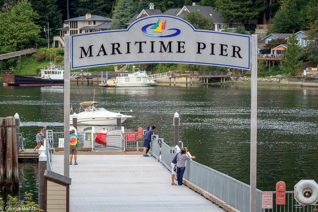 Maritime Pier on Gig Harbor Bay.
