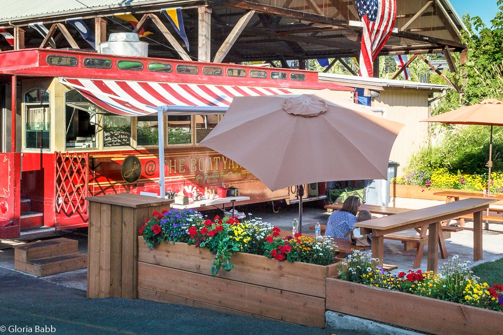 Lunch! Gig Harbor trolley in Downtown Gig Harbor.